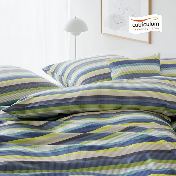 Elegante Bettwäsche | Color Stripe ( multicolor ) | Mako-Satin 1